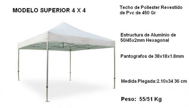 Catalogo carpas plegables alucisol for Toldo plegable 3x3