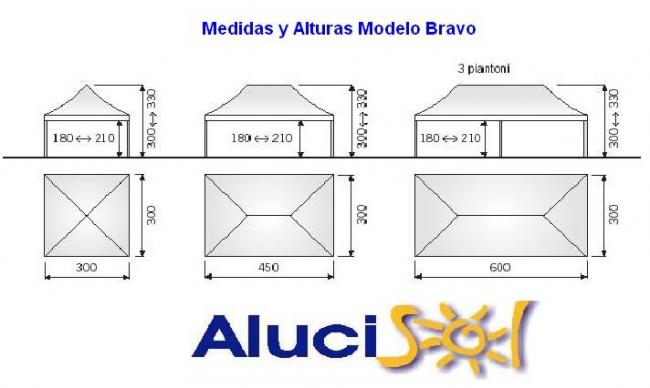 Catalogo carpas plegables alucisol for Estructuras aluminio para toldos