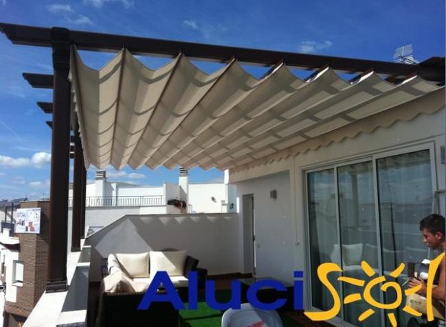 Pergolas de aluminio para terrazas precios cool top - Aluminio para pergolas ...